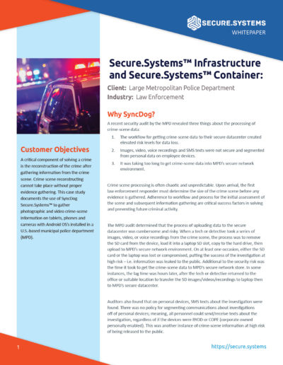 Secure.Systems: MPD Case Study