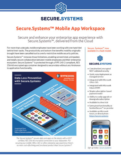 Secure.Systems: Mobile App Workspace