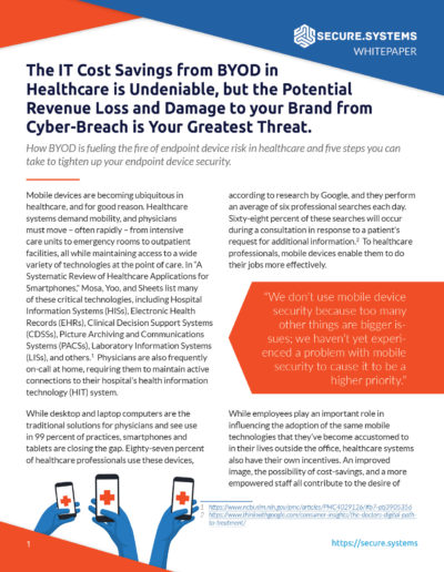 Secure.Systems: BYOD in Healthcare