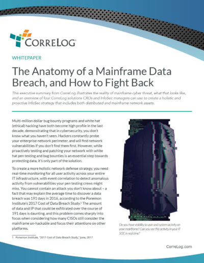 CorreLog: The Anatomy of Mainframe Breach